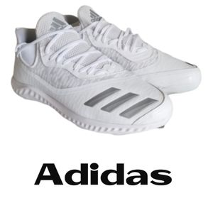 adidas White Icon V Bounce Iced Out Cleats New!